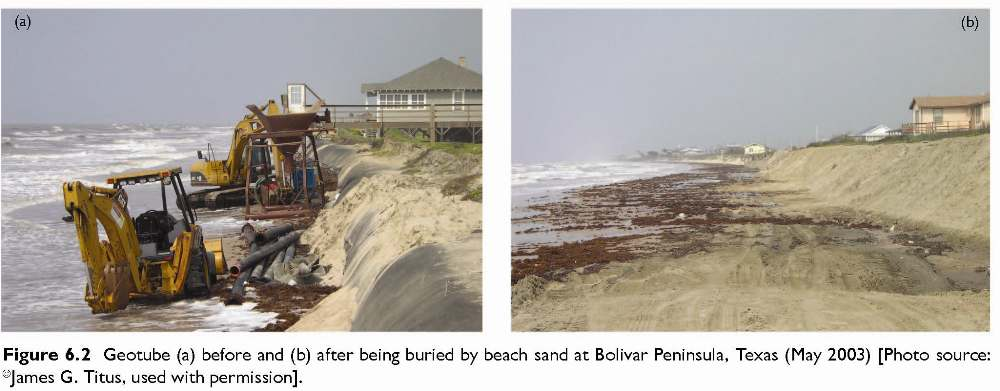Figure 6.2 Geotube (a) before and 